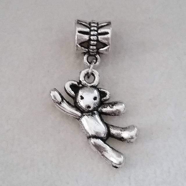 400243a21eb5 Oso de peluche Amuletos plata antiguo colgante Colgantes nueva bijoux joyas  pandora encanto perlas pulsera