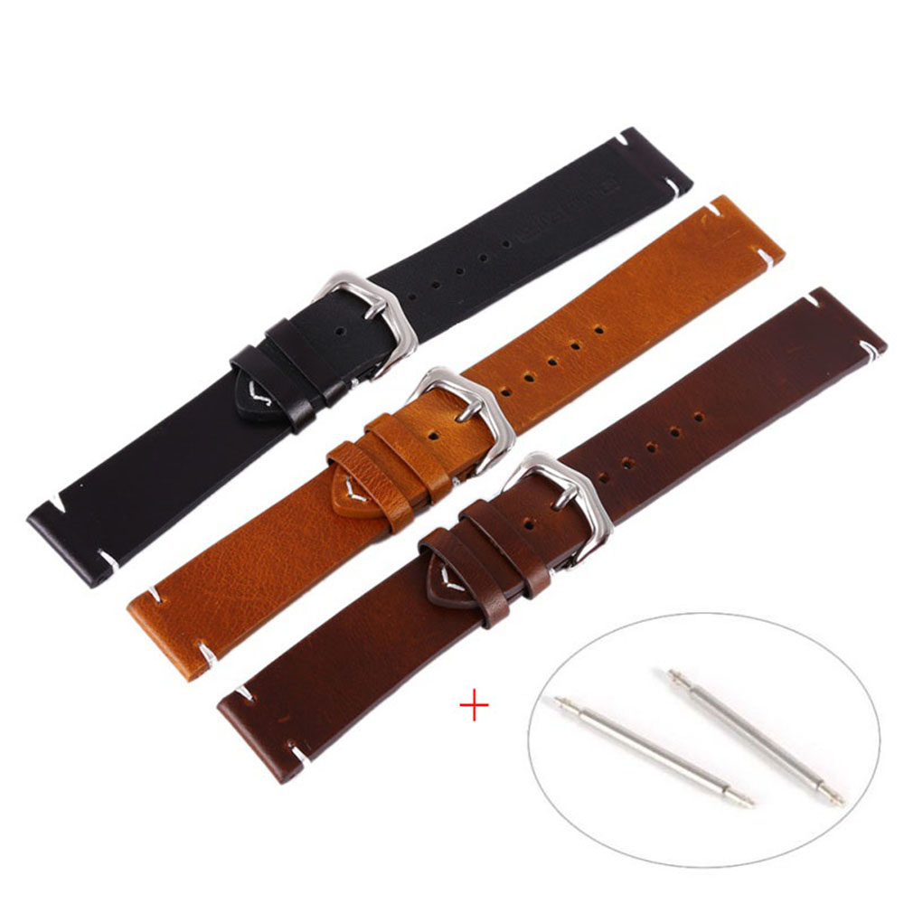 Wax Oil Skin Watch Straps Vintage Genuine Leather Watchband Calfskin Watch Straps 18mm 20mm 22mmWax Oil Skin Watch Straps Vintage Genuine Leather Watchband Calfskin Watch Straps 18mm 20mm 22mm