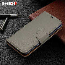 IMIDO Luxury Flip Leather Phone Case For Huawei Mate20 Lite Wallet Card Stand Back Cover Pro Coque Fundas Capa