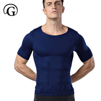 Men Lose Weight Slimming Vest Tops Waist Belt Reduce Belly Stomach Shapewear Posture Corrector T Shirt