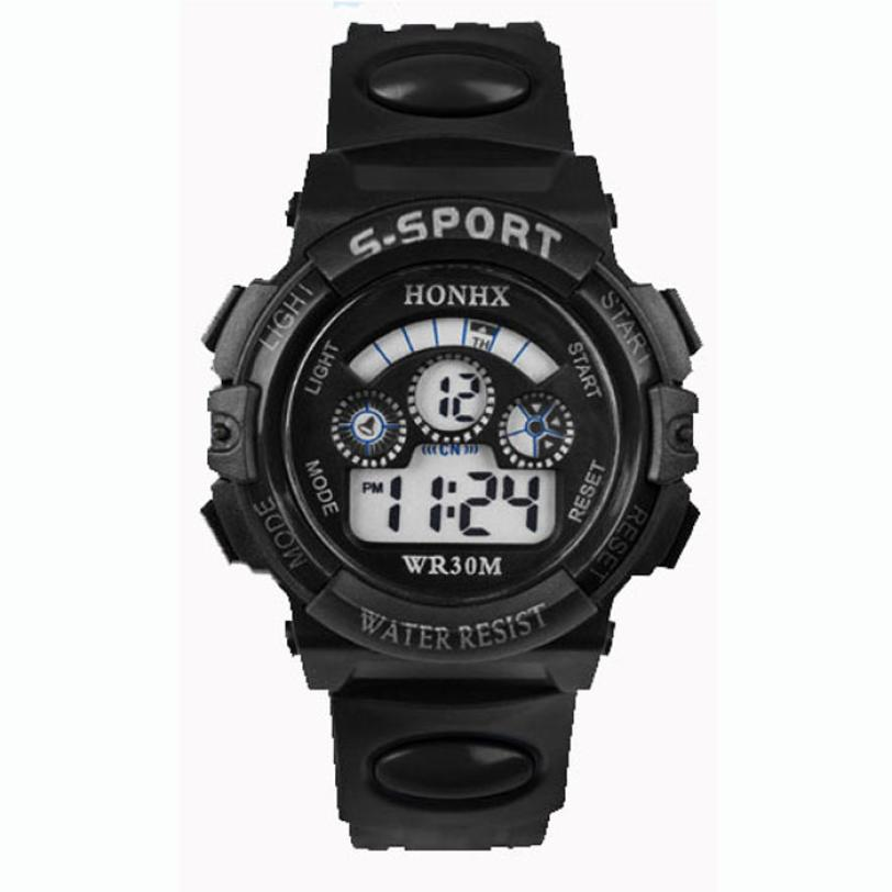 Quartz Watch Women  Reloj Mujer Digital LED  Silicone  Wristwatches  Date Sports Wrist  Watch  18FEB7 hoska hd030b children quartz digital watch