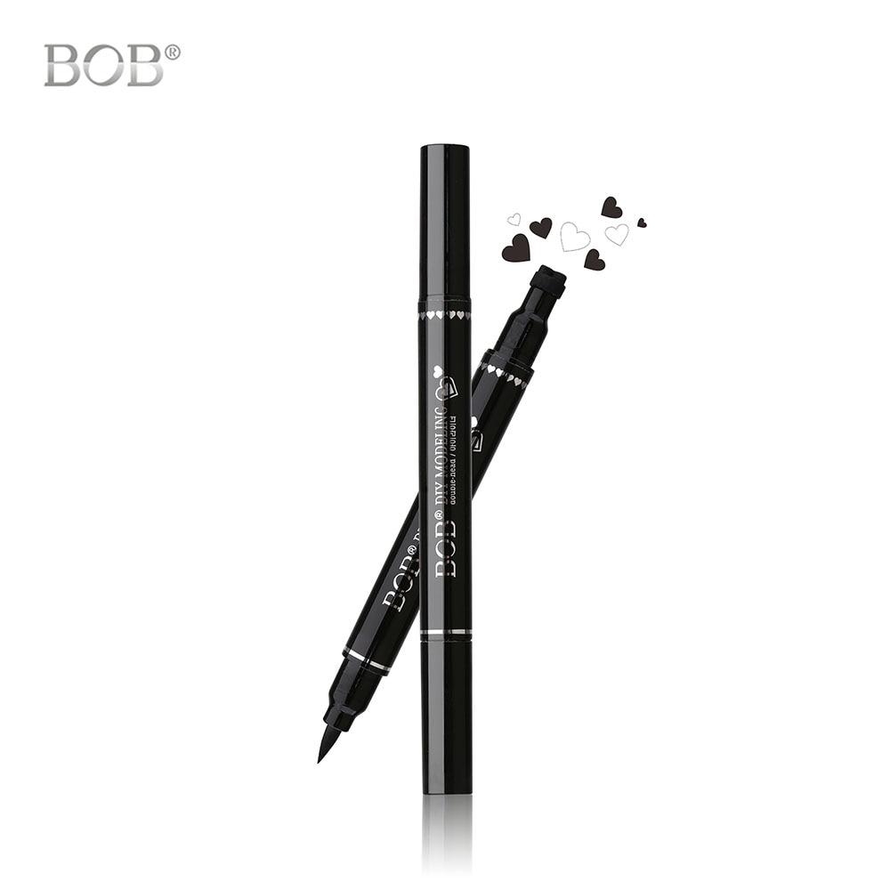 1 Piece New Black Waterproof Liquid Eyeliner Star Heart Tattoo Stamp Eye Liner Pencil Double Sides Long-lasting