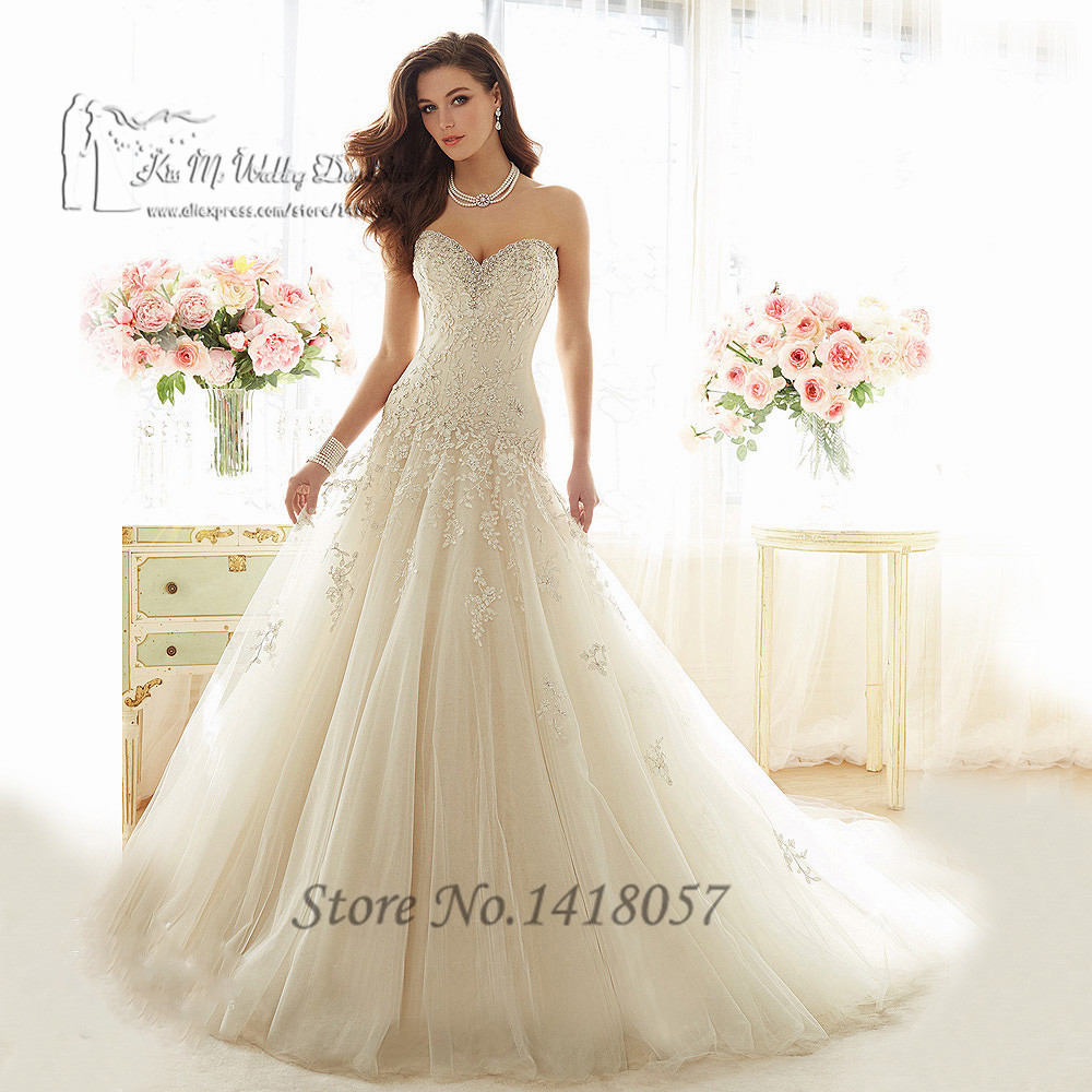 Vestidos de noiva plus size brillant vintage wedding dress for Princess plus size wedding dresses