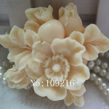 1 шт цветы граната(zx0103) силиконовые формы для мыла ручной работы