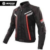 SCOYCO мото куртки водостойкая мотоциклетная куртка для верховой езды летняя ветрозащитная мотоциклетная Защитная Экипировка Броня мото оде