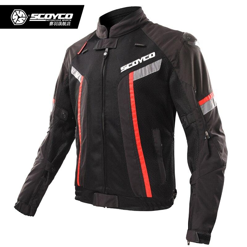 SCOYCO Moto vestes imperméable Moto équitation veste été coupe-vent Moto équipement de protection armure Moto vêtements