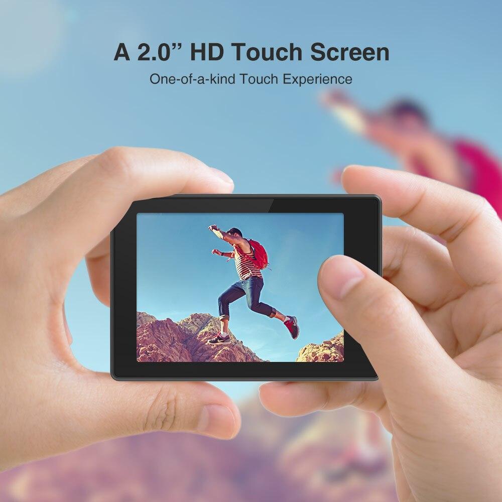 ThiEYE T5 Pro Ultra HD 60fps 4K Tela Sensível Ao Toque WiFi Action Camera Controle Remoto 60m cam à prova d' água com EIS a 4K Câmera de Esportes