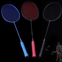 Graphite Single Badminton Racquet Professional Carbon Fiber Badminton Racket with Carrying Bag BB55