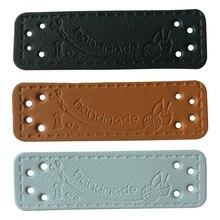 48 шт. рукоделия ручной работы кожаные этикетки для рукоделия Швейные аксессуары для сумки, обуви, шляпы Кожаные Швейные бирки ручной работы для подарочной коробки
