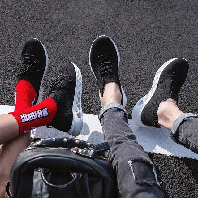 FEOZYZ Low Top Running Shoes Men Women Breathable Knit Upper Sneakers Women Men Plus Size 35-48 Lightweight Outdoor Sport Shoes 3