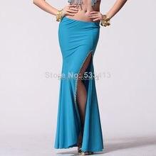ホット販売ベリーダンスの服セクシーなダンススカートクリスタル綿ベリーダンスのスカートセクシーなスパンコールスプリットスカート女の子ダンススカート