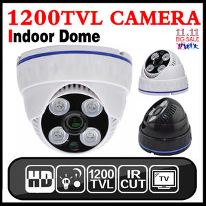 Dome Camera Surveillance Indoor Cctv 1200TVL NTSC PAL CMOS H.264 6MM Wired BNC Analog