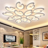 Flower aluminum acrylic LED ceiling lamp home living room bedroom study lamps commercial LED Ceiling light 110 240V