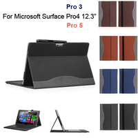 New Tablet Case For Microsoft Surface Pro4 12 3 Leather Case Cover Folio Stand Case Free