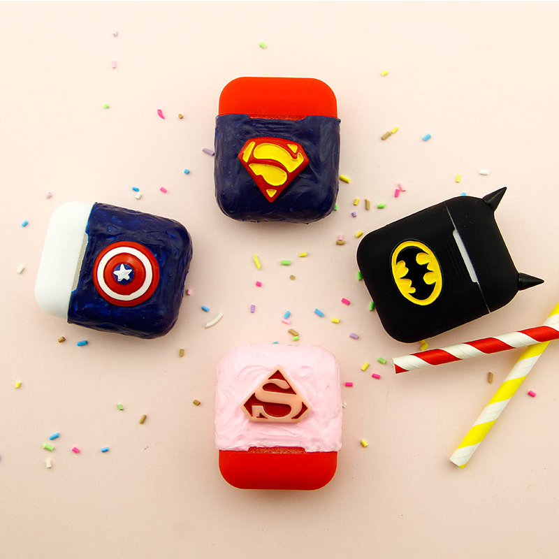Newest Handmade Silicone Case For Apple Airpods Accessories Protective Cover Unique Cute Cartoon Antidust Bag DIY Case with Rope