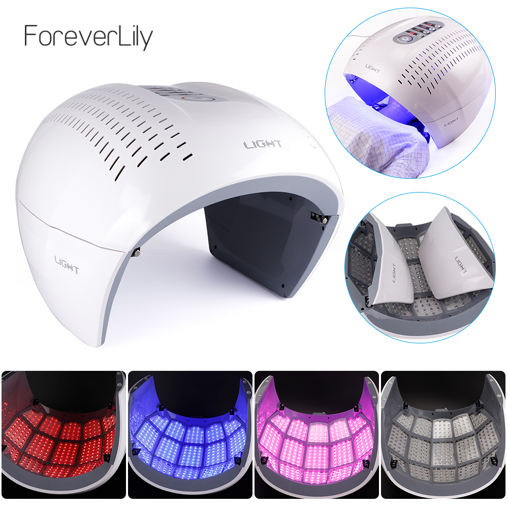 4 Colors PDT Face Mask LED Light Therapy Machine Skin Rejuvenation LED Facial Mask Anti Aging Acne Remover Skin Care Beauty Mask