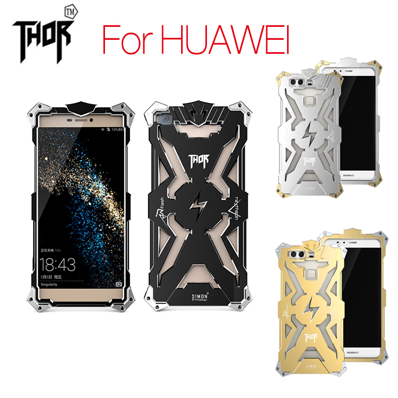 Simon Thor Series Aviation Aluminum Metal Phone Cases Cover For Huawei Ascend P10 P8 P9 Plus Lite Mate 7 8 9 S Honor 6 7 8 Case