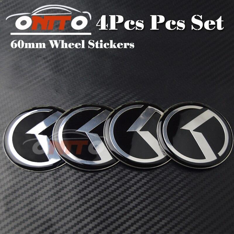 Livraison Gratuite 4 pcs OPTIMA K2/K3/K4/K5 sorento de roue de voiture hub cap de center de roue badge couverture emblème étiquette 60mm Auto Accessoires