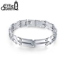Personality X Pattern Men Bracelet Stainless Steel Bracelets Jewelry for Best Friends Wristbands IB16