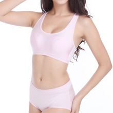 3 Colors Women Fashion Seamless Candy Color Exercise Push Up Wire Free Bra Set Comfortable Underwear Intimates Lingerie 555