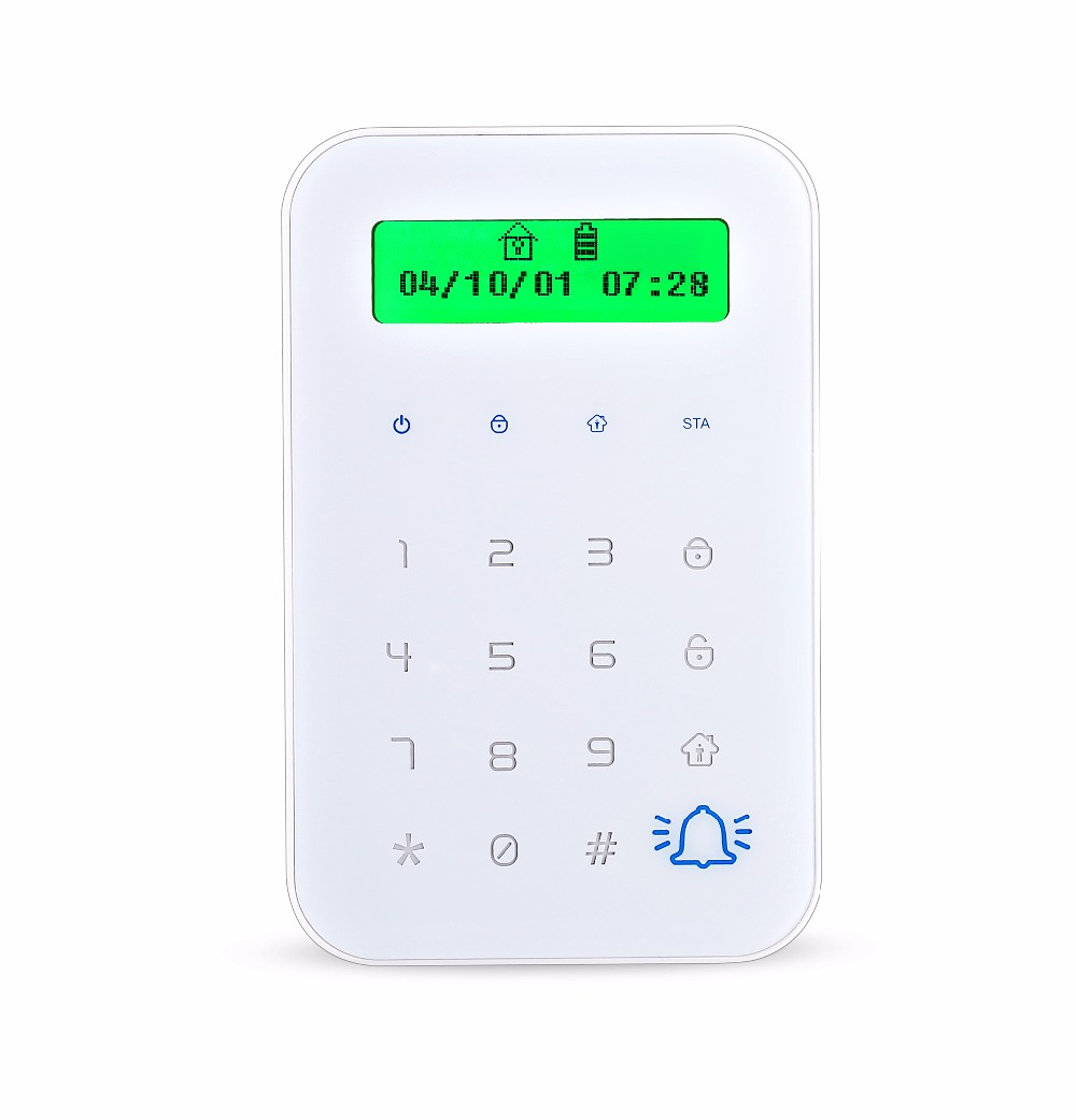 все цены на HTB-JP02  With  RFID Wireless Touch Keyboard With 2 pcs RFID tags Password Keypad For GSM Wifi Home Alarm System онлайн