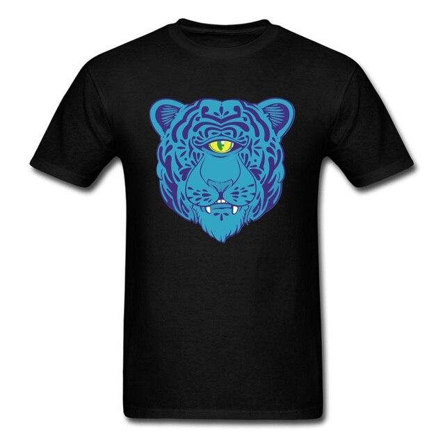18865d03a DEWEY CAT Cool 2018 Blue All-seeing Eye Leopard Print Men's Tops T-shirt  Short Sleeve Custom Boyfriend's Tee Shirt