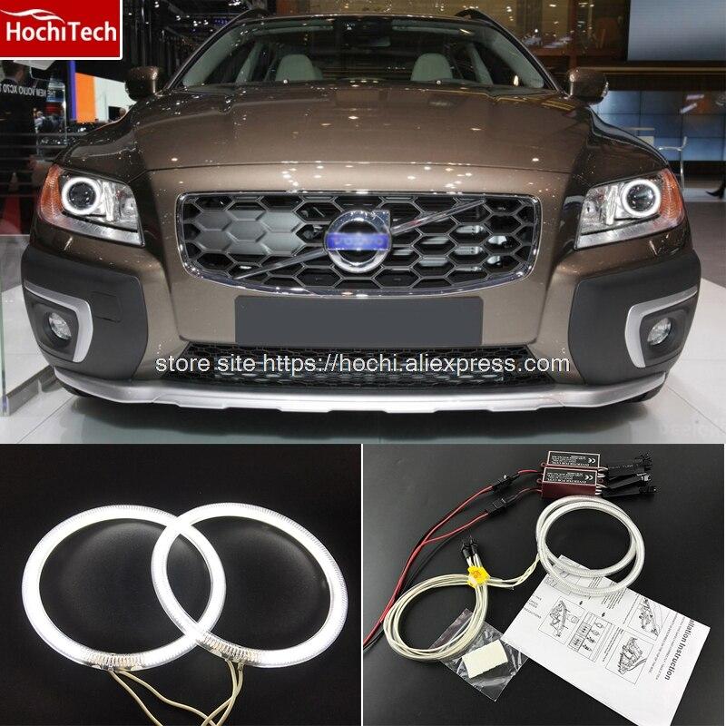 HochiTech Ccfl Angel Eyes Kit White 6000k Ccfl Halo Rings Headlight For Volvo XC70 2008 2011