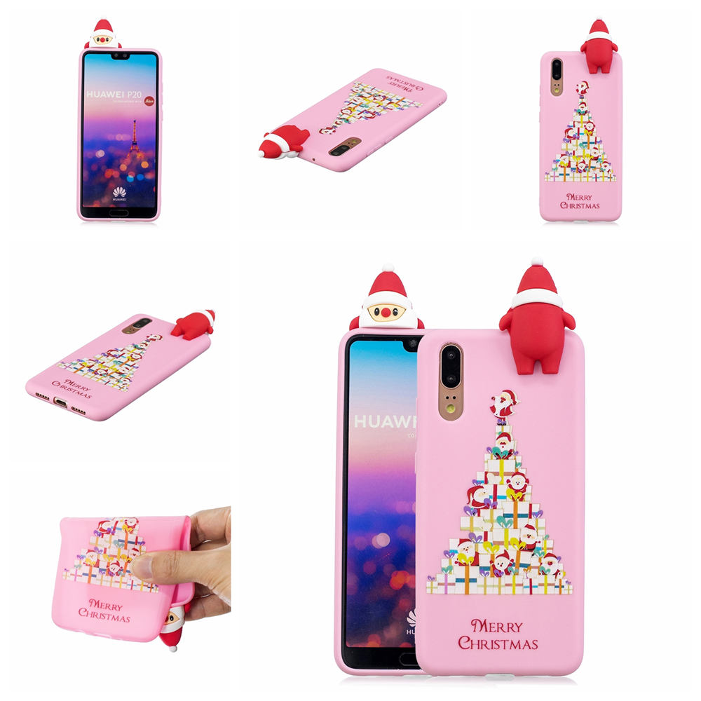 3D Merry Christmas Silicone Shell For Huawei