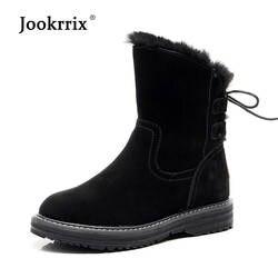Botas mujer/повседневная обувь, женская модная теплая обувь из натуральной кожи на платформе, новые зимние сапоги, женская зимняя обувь на меху