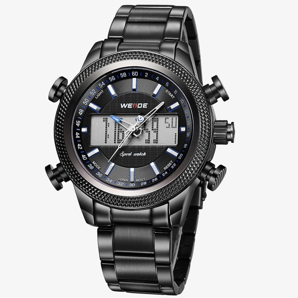 ФОТО 2017 New WEIDE  Sports Watch Multifunctional Waterproof Electronic Men Wristwatch  Top Band Relogio Masculinio