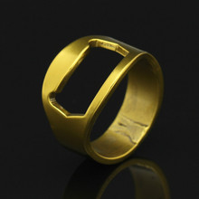 titanium steel ring men Male  Punk Beer opener Ring Fashion Men Club Party Jewelry Yellow Gold Rings For Gift