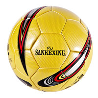 SANKEXING Professional Football Standard Ball Slip resistant Match Trainning Soccer Ball Game Soft Leather Size 4 Football Balls