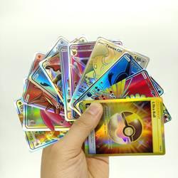 Без повтора 100 120 324 200 шт. EX GX Мега Сияющий игра битва карт торговые карты игры с бустером коробка для детей Pokemons игрушка