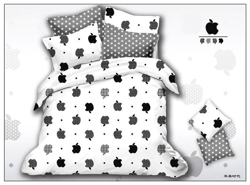 Hot Sale,white & Black Star Dot Style 3d Bedding Set 4pcs
