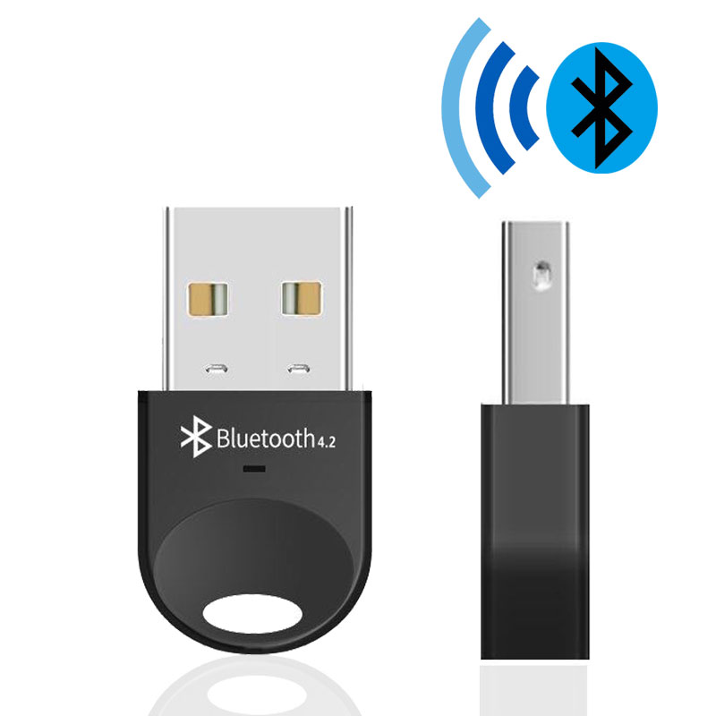 Adaptador Bluetooth Dongle USB para ordenador auricular inalámbrico Bluetooth altavoz RSE 4,2 conductor libre adaptador Bluetooth, USB/receptor