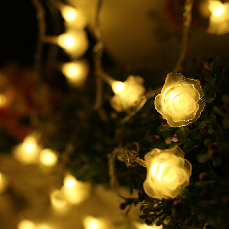 3m 20 led christmas roses string lights indoor wedding romantic 3m 20 led christmas roses string lights indoor wedding romantic atmosphere chandeliers series christmas lights indoor battery in led string from lights aloadofball Image collections