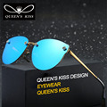 Luxury Gradient Sunglasses Women Rimless Big Frame Sun Glasses For Women Crystal Glasses oculos de sol feminino Male lunette