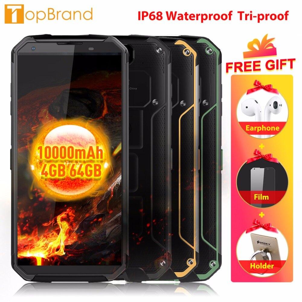 "Blackview BV9500 4 г мобильного телефона Android 8,1 Octa Core 5,7 ""18:9 MTK6763T 4 ГБ Оперативная память 64 ГБ Встроенная память IP68 Водонепроницаемый смартфон NFC OTG"