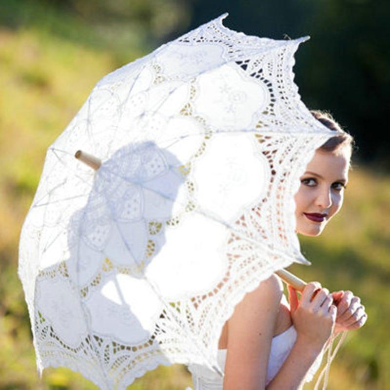Ücretsiz Kargo Dantel Manuel Açılış Düğün Şemsiye Gelin - Düğün Aksesuarları - Fotoğraf 6