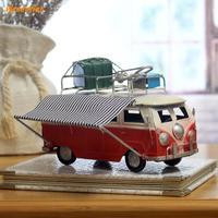 装飾工芸置物ミニチュアヴィンテージ鉄クラシック多色郷愁クリエイティブ錫バスモデルのデスクトップの装飾品ギフト