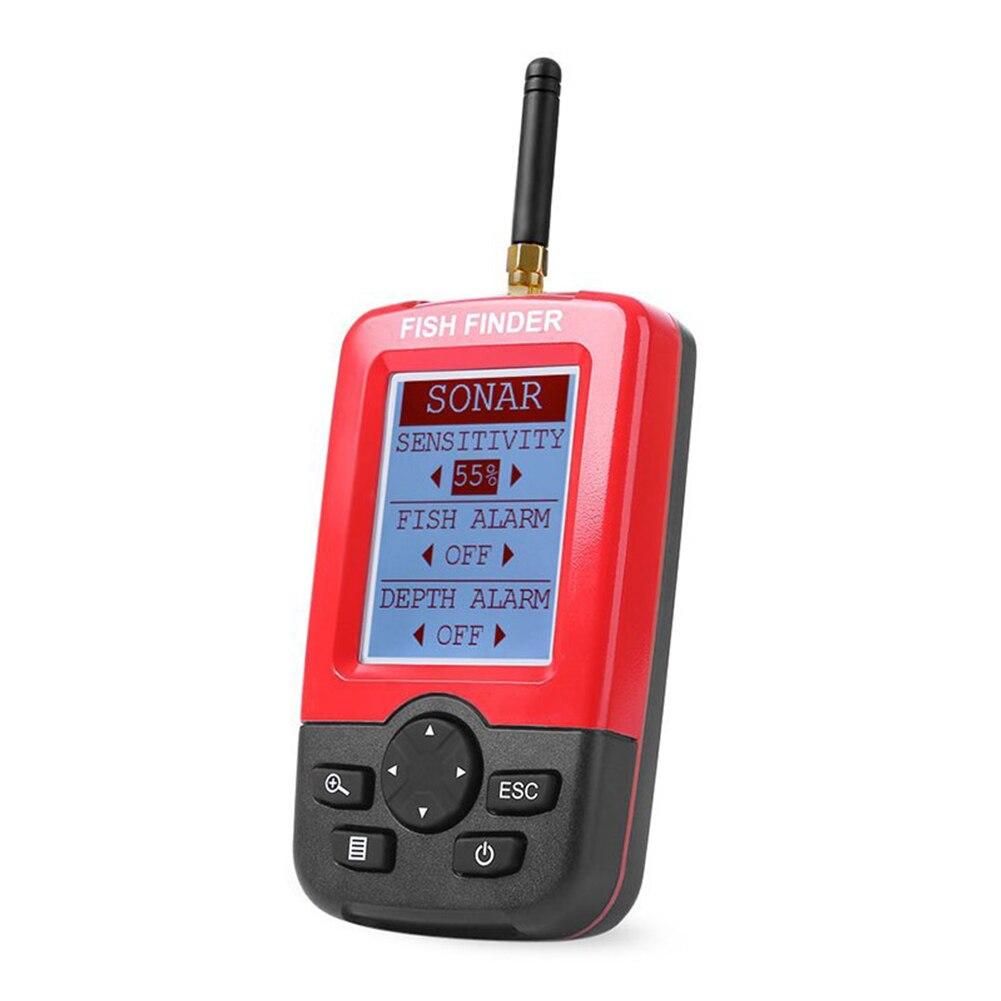 Détecteur extérieur détecteur de poisson bateau mer attirail fournitures alarme écran LCD Portable Sonar capteur rivière pêche profondeur sans fil