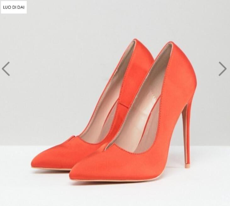Robe Point Pompes Chaussures Femmes De Toe Mince Soie Sur Talon qv7wP4ttzx