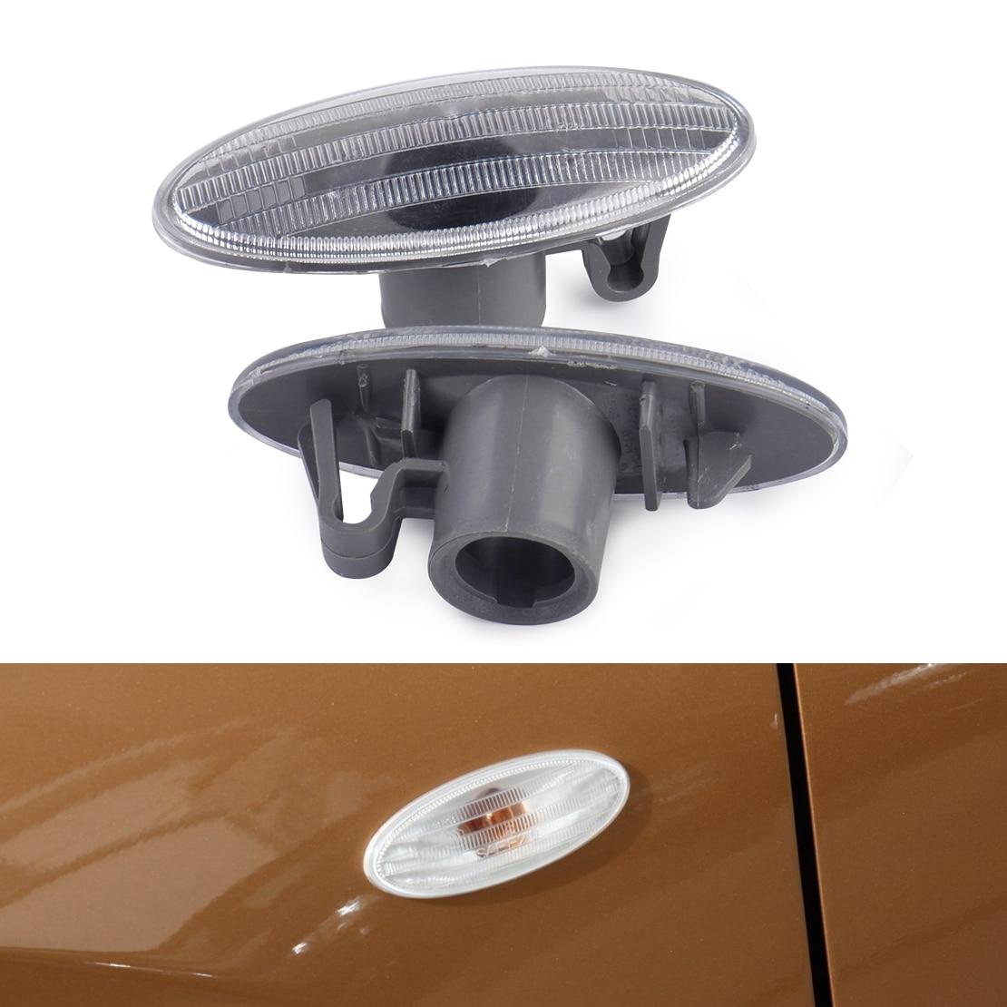 beler 1Pair Side Turn Signal Lamp Fender Marker Lights Cover 26160-89900 for Nissan Cube Juke Leaf Note Micra X-TRAIL 2011-2013