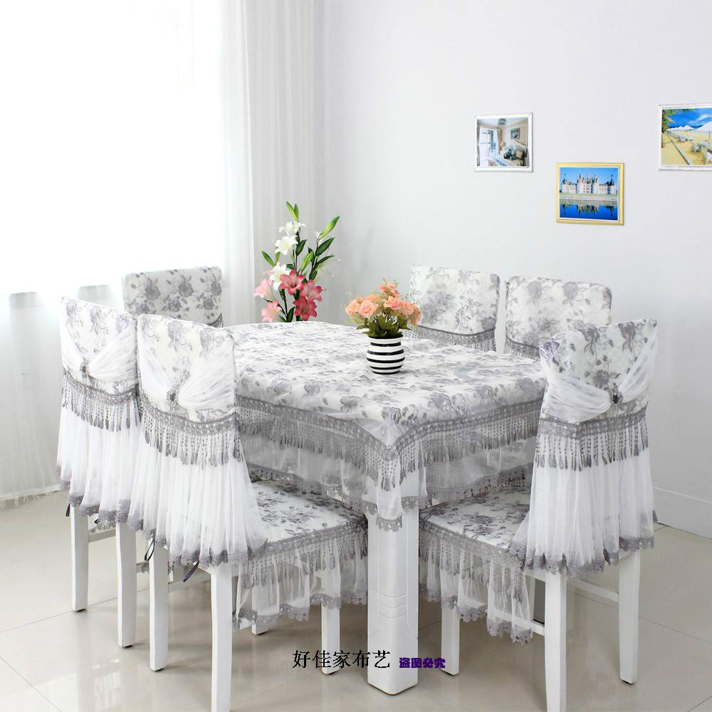 Quality Dining Table Cloth Piece Set Chair Cover Cushion Linen Cotton Lace 100 Many Kinds Of Style