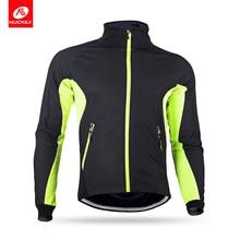 Nuckily Winter Mens Waterproof Cycling Sportswear Light Weight Thermal Fleece Jersey  MI004