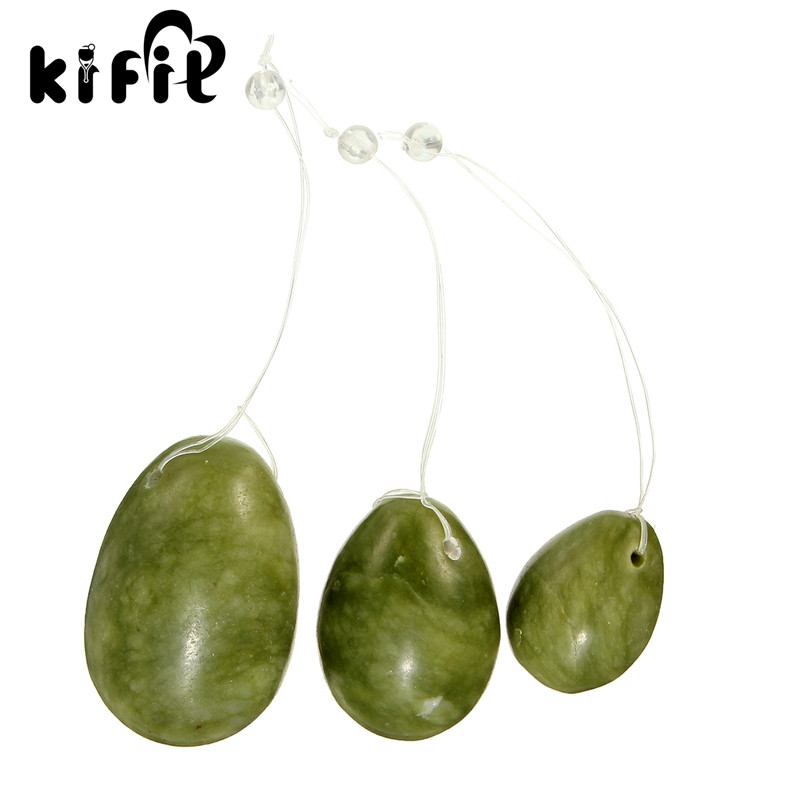 KIFIT 3Pcs/Set Dark Green Jade Eggs Women Pelvic Muscle Exercise Improve Circulation Healthy Life For Body Relaxation Accessory инфракрасная плнка green life в ростове