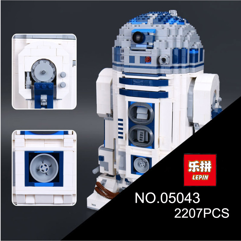 Genuine Series Robot Block Toys R2D2 BB8 Robot Gifts For Children Compatible Lepin Stars 05128 War Building Blocks Set 05043 large military 8 in1 747pcs 8 figures building blocks tank warship army war toys for children constructor set compatible lepin
