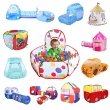 Play House Indoor and Outdoor Easy Folding Ocean Ball Pool Pit Game Tent Play Hut Girls Garden Playhouse Kids Children Toy Tent