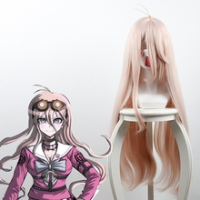 Danganronpa V3: Killing Harmony Iruma Miu Wig 80cm Long Straight Cosplay for Anime Costume Party Game Halloween Hiart