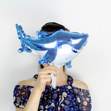 KAMMIZAD JAWS Balloons Sea Animal 10pcs/lot Mini Shark Children Party Aluminium Foil Inflatable Wedding Globos Free Shipping